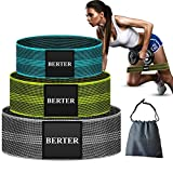 BERTER Resistance Bands for Legs and Butt, Workout Exercise Bands Non-Slip Fitness Booty Loop Bands Perfect for Squats, Deadlifts