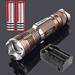900 Lumen XM-L T6 LED 18650 Flashlight Torch Zoom Lamp AC Charger Batteries by Yiteng