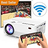 [Wireless Projector] POYANK 2500Lumens LED Wireless Mini Projector, WiFi Projector Compatible with Smartphones, Video Games, TV Box Full HD 1080p Supported (WiFi Model)