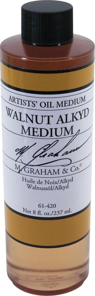 M. Graham 8-Ounce Walnut/Alkyd Medium
