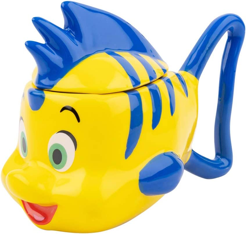 Disney Flounder The Little Mermaid 3D Mug