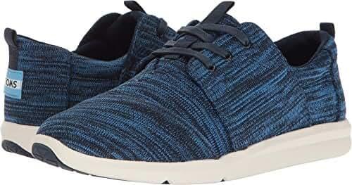 TOMS Women's Del Rey Sneaker Nautical Blue Multi Knit Oxford