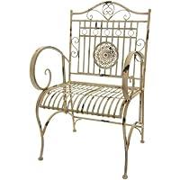 Oriental Furniture Rustic Garden Chair - Distressed White