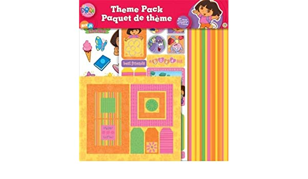 Amazoncom Sandylion 12x12 Scrapbook Theme Pack 1 Dora The Explorer