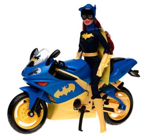 Barbie Year 2003 Super Hero 12 Inch Doll Set - Barbie as Batgirl with Batgirl's Motorcycle and Batarang