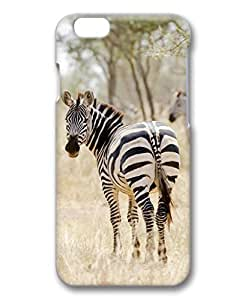 iCustomonline Case for Samsung galaxy S6 PC, Zebra Protective Skin Ultimate Protection Printed Slim Premium Clear Cute Designed Case for iPhone 6 (4.7 inch) 3D