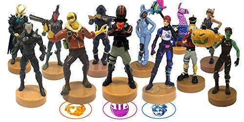 (PMI Fortnite figural stampers Set of 12 - Authentic Fortnite Figures with Stamps - Ghoul Trooper, Brite Bomber & Other Popular Fornite Battle Royale Toy Characters - B Series Collection 2 of 3)