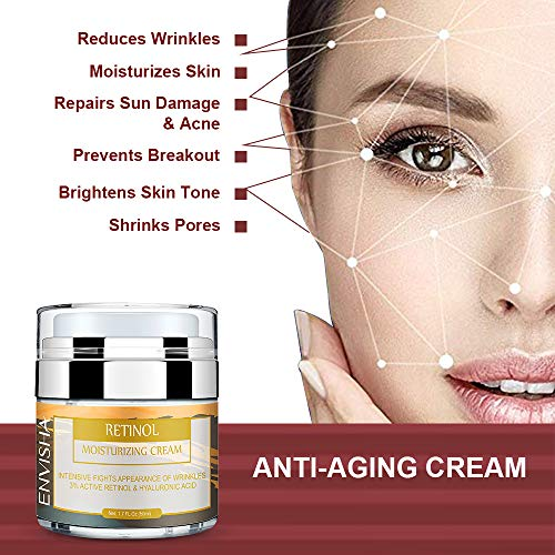 51jgRg4LqaL - Wumal Retinol Moisturizer Cream for Face and Eye Area - Anti Aging Infused with 3% Active Retinol, Hyaluronic Acid & Vitamin E - Reduce Wrinkles, Fine Lines, Fades Sun Spot