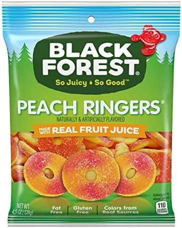 Gummy Candies: Black Forest Peach Ringers