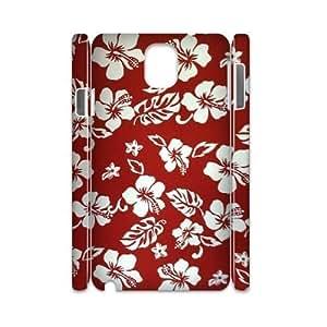 Red Hawaii Flower Custom 3D Cover Case for Samsung Galaxy Note 3 N9000,diy phone case dagongsi607114