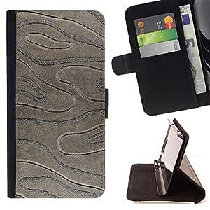 - Black Stone Imitation 3D Pattern - Estilo PU billetera de cuero del soporte del tir???¡¯????n [solapa de cierre] Cubierta- For Samsung Galaxy S5 Mini, SM-G800 £¨ Devil Case £©