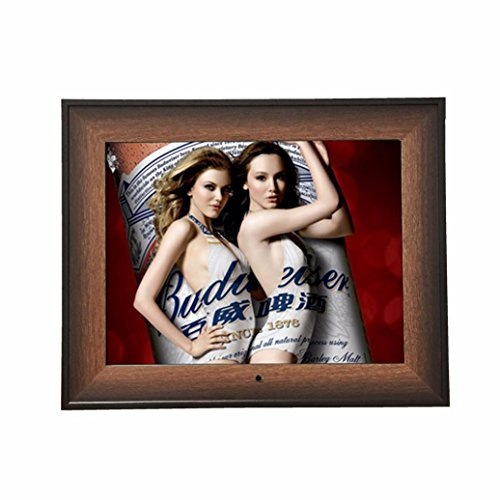 Boddenly 1080P 14-inch High-definition LED Digital Photo Frame Wooden Frame Electronic Album Support Video Player /Calendar/Clock/Ebook