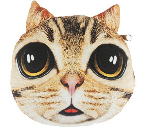 Adorable gato cara de gato pequeño bolso de mano bolso de hombro Ginger Tabby