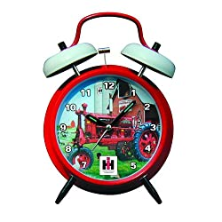 Key Enterprises International Harvester McCormick Farmall Twin Bell Alarm Clock with Red Finish