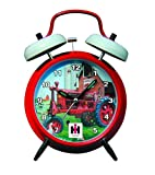 International Harvester McCormick Farmall Twin Bell Alarm Clock with Red Finish