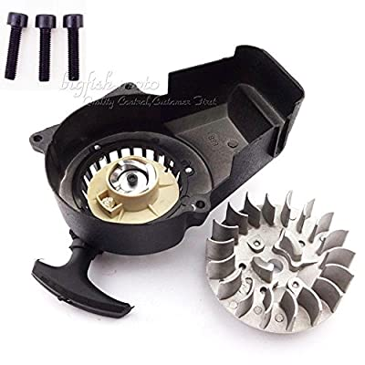 Flywheel Alloy Pull Start Starter 47cc 49cc Mini Scooter Kid Dirt Bike Quad ATV