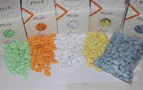 Dragées Pécou Assorted Color Ultra Fine Jordan Almonds - 1 Pound Bag ()