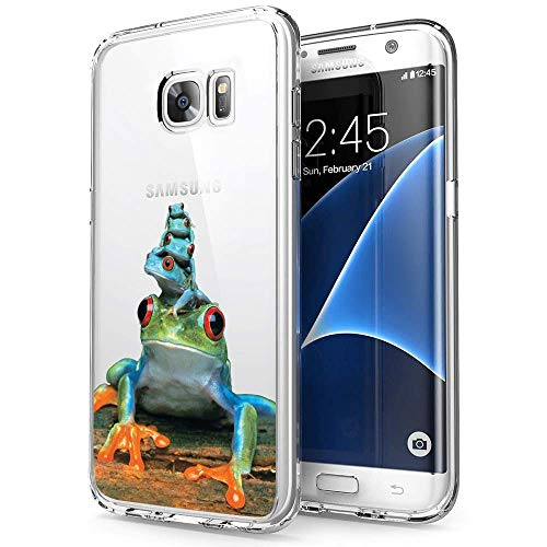Samsung Galaxy S7 Case Frog Piles,UV Print Clear Transparent Case Scratch Resistant Shock-Absorbing Case Soft Flexible Protective Case for Samsung Galaxy S7