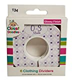 Closet Doodles C134 Purple Baby Girl Clothing Dividers Set of 6 Fits 1.25inch Rod