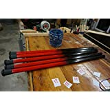 RipWood 850400007785 Wood Lacrosse Attack Shaft - Black and Red