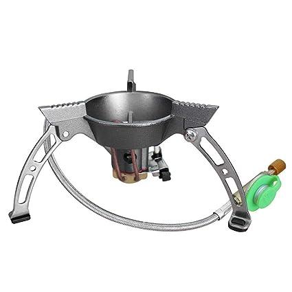 Estufa portátil de gas para acampar, Cortafuego portátil a prueba de viento horno al aire