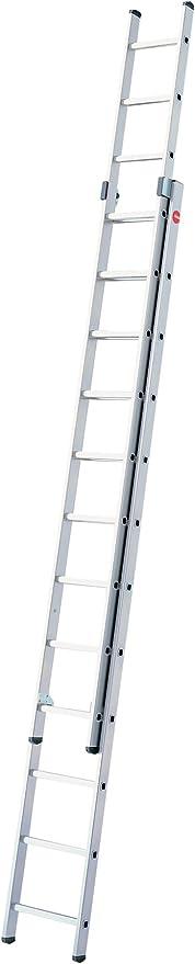 Hailo ProfiStep-Duo - Escalera industrial 2 tramos de aluminio (2 x 12 peldaños): Amazon.es: Bricolaje y herramientas