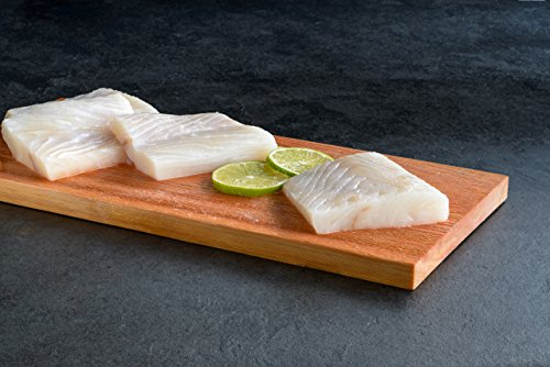 Halibut, Portion, Frozen and Individually Vacuumed Packed, Total 10 LBS in 6 Oz Portions by Newport