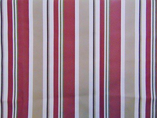 Outdoor Stripe BURGUNDY Waterproof Canvas fabric 60