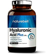 Maximum Strength Hyaluronic Acid Plus, 100mg,180 Capsules, Powerfully Support Skin Hydration & Joints Lubrication. Made in USA