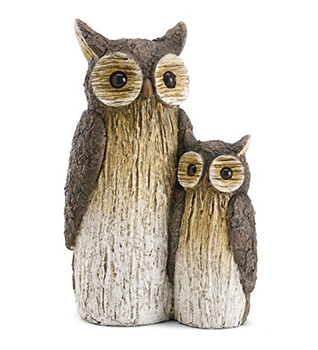 Mother and Baby Owl Garden Statue