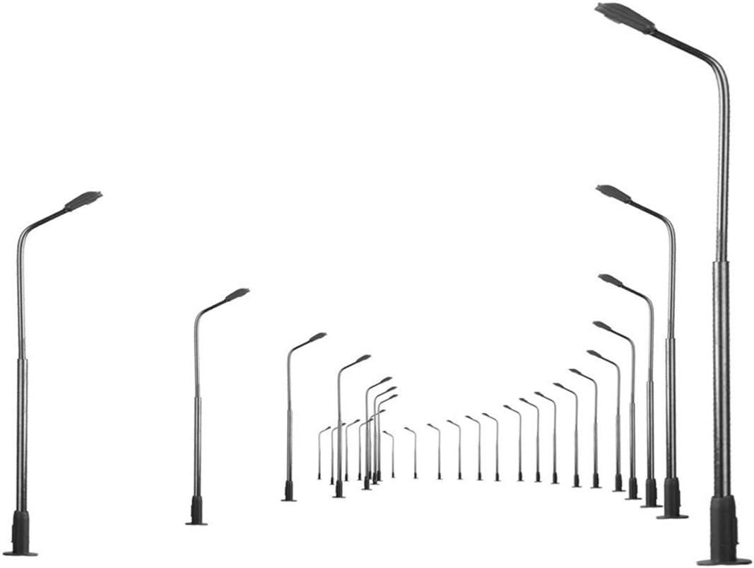 Domilay 10 Altezza Pezzi 8 Cm Modello Lampione Stradale Singolo per Modellismo Ferroviario