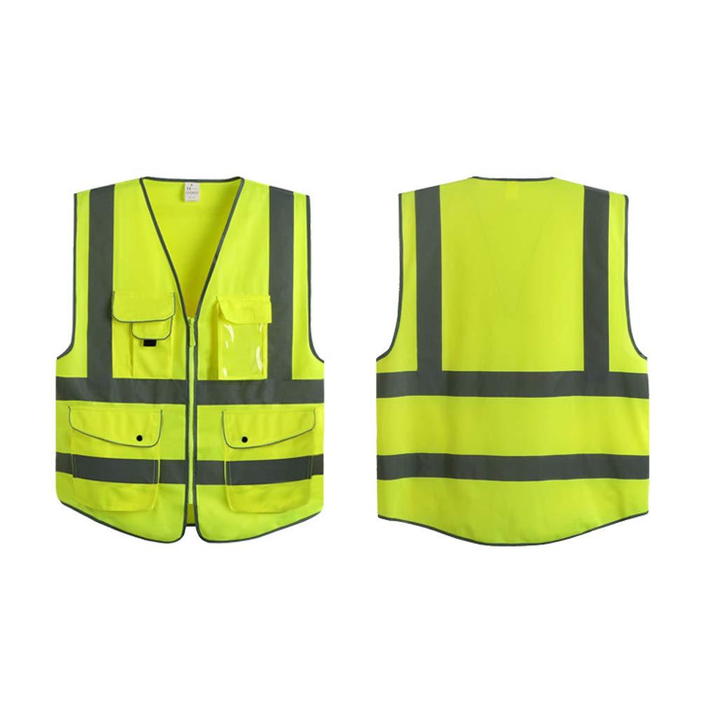 OWSOO Giubbotto Riflettente Abbigliamento Da Lavoro Alta Visibilit/à Giorno Notte Ciclismo Avvertenza Abbigliamento Sportivo Giubbotto Di Sicurezza Per Bambini Donna Uomo