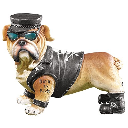 Biker Bulldogs Figurine Boy Resin
