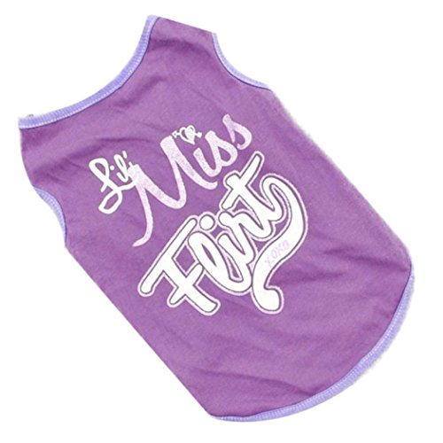 Small-Dog-Shirt-Voberry-Fashion-Pet-Puppy-Clothes-Funny-Cotton-Costumes-Pet-Dog-Cat-Cute-Quote-T-Shirt-M-Purple