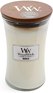 WoodWick Everyday Large Hourglass Candle, Magnolia, 609.5g