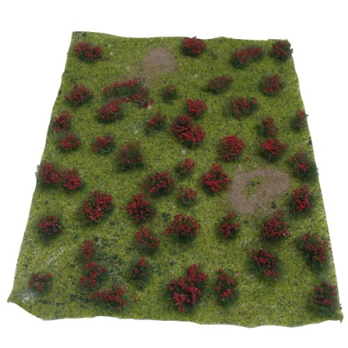 JTT Scenery Products Landscaping Details: Flowering Meadow Red, 5-7 5-7 Model Rectifier Corp. 0595604