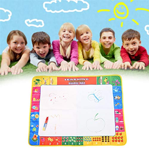 GonPi | Drawing Toys |1 Piece 80X60CM 72X49CM 2 Size Magic Water Doodle Mat with 1 Magic Pen/Water Drawing Board/Water Mat/Aquadoodle Mat for Baby Toys ()