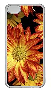 Custom design PC Transparent Case Cover For iPhone 5C DIY Durable Shell Skin For iPhone 5C with Red Sunflower