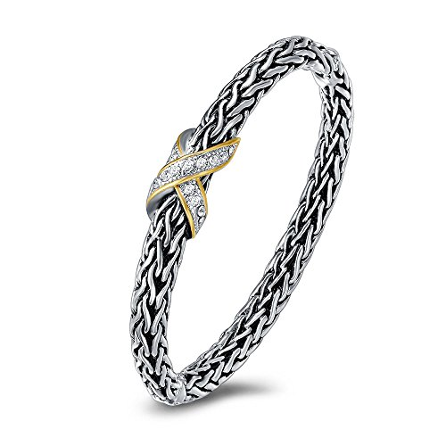 UNY Hot Sale Fashion Brand Hardy jewelry Wire Cross Vintage Bangle Elegant Beautiful Mothers day Gift (Cross Yurman David)