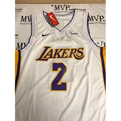 374a79109 Beckett Authentic Lonzo Ball Rookie Autograph Alternate White Los Angeles  Lakers Jersey