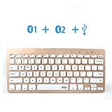 Wireless Bluetooth Keyboard for Tablet, Wired Portable Ultra thin