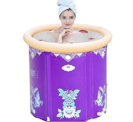 BYCDD PortáTil BañEra Hinchable, Plegable Bathtub Engrosada ...