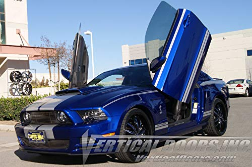 Vertical Doors - Vertical Lambo Door Conversion Kit for Ford Mustang 2011-2014 (VDCFM11) ()