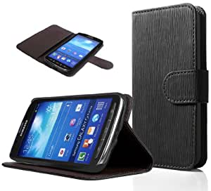 SUPCASE Samsung Galaxy S4 Active i9295 Premium Wallet Leather Case (Black) - Hard Shell Case, Built-in Credit Card/ID Card Slot, Not Fit Samsung Galaxy S4 i9500