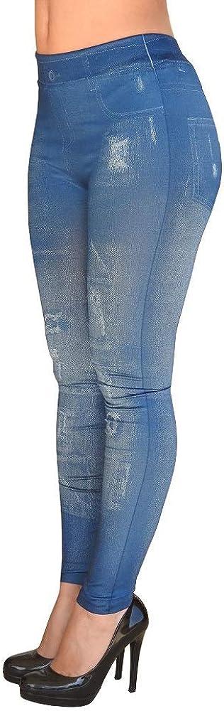 Elasticizzato Effetto Jeans Aderente Strappato Pantacollant Inception Pro Infinite Leggings Donna Idea Regalo Taglia Unica