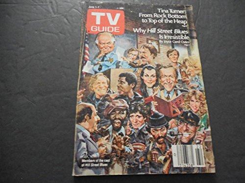 TV Guide Jun 1-7 1985, Tina Turner, Hill Street - Street Glasses Magazine