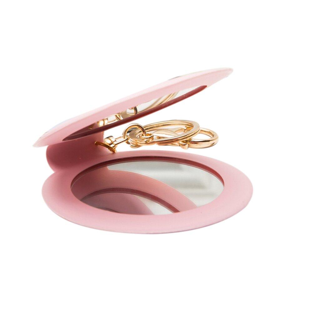 welecom Lot de 1Mini Lady rond miroir de maquillage portable miroir cosmétique Compact Poche Porte-clés Yingzhu-UK