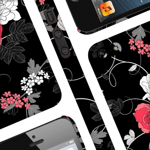 EMPIRE Signature Slim-Fit Design Hard Case for Apple iPhone 5 / 5S ? Black Flowers