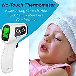 No Touch Thermometer - Infrared Thermometer Suitable for Newborn, Infant, and Toddler - Measure at 2-6 Inches Distance - Medical Tympanic Thermometer - Detecting The Slightest Temperature Increase...