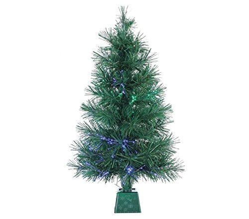 Artificial Christmas Tree. Fake Xmas Pine With Classic Fir Shape, Green, Dense, Lush Foliage. Looks Festive & Real. Compact, Great For Indoor, Tabletops, Holiday Season Party Decor. (3 Foot)